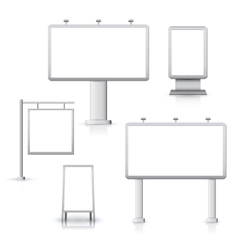Blank advertising boards vector image