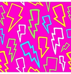 Colorful comic thunder bolts seamless vector image