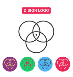 disign logo color circle vector image