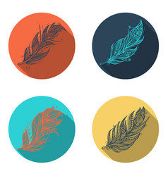 feather icons set vector image vector image