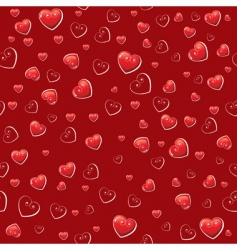 hearts wallpaper pattern vector image vector image
