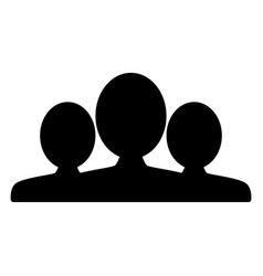 people group team icon silhouette sign vector image