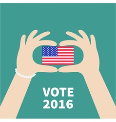 President election day 2016 Voting concept Hands vector image vector image
