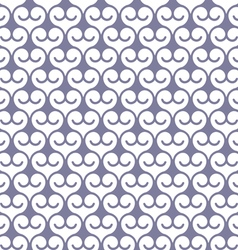 Seamless monochrome pattern with swirls vector image vector image
