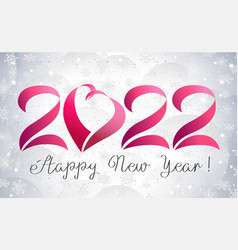 2022 heart icon and winter backdrop vector image