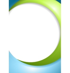 Abstract blue green wavy design vector