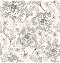 abstract floral pattern seamless flowers pattern vector image