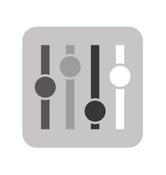 Audio control panel icon vector