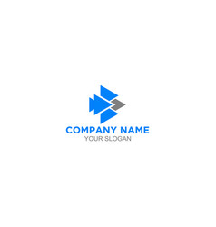 B arrows logo design vector