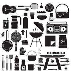 Barbecue and Picnic Set vector