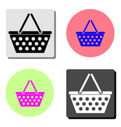 basket flat icon vector image