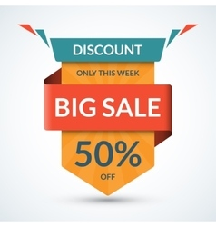 Big sale banner Discount label Best offer tag vector