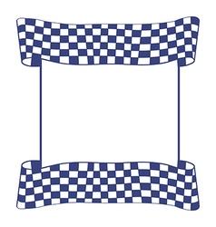 Blue checkered flag vector