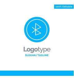 Bluetooth ui user interface blue solid logo vector