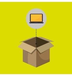 box computer laptop vector image