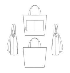 Canvas tote bag fashion design template7 vector