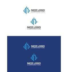 Castle tower logo vector