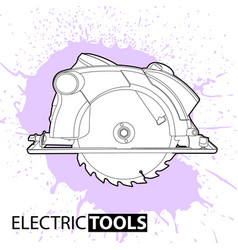 Circular saw on a bright background vector