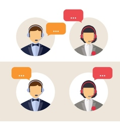 Client services vector image