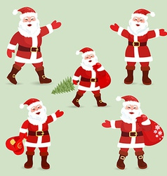 Collection of cute Santa Clauses for your design vector