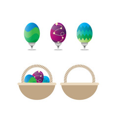 collection of easter eggs template vector image