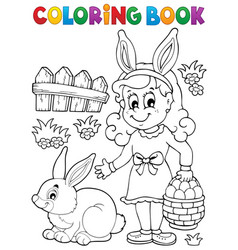 Coloring book easter topic image 2 vector