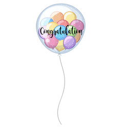 Congratulation card with colorful balloons vector