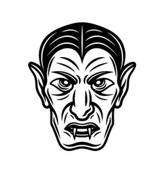 Dracula vampire head black vector