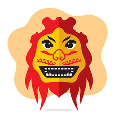 Dragon mask flat style colorful cartoon vector