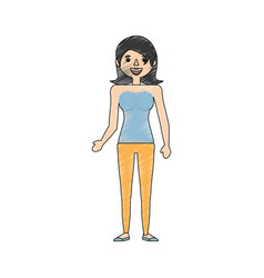 drawing woman mother image vector image