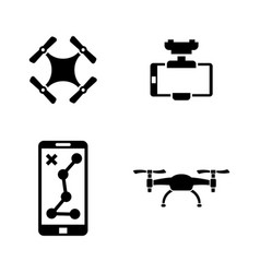 Drone simple related icons vector