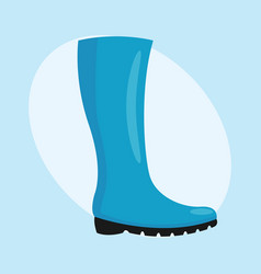 Fashion female blue boots isolated casual foot vector