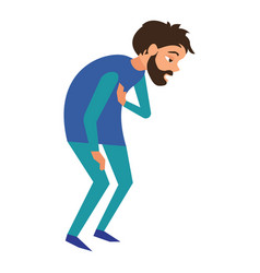 fatigue ill man icon cartoon style vector image