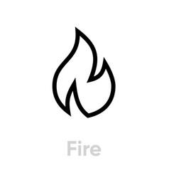 Fire security icon editable line vector