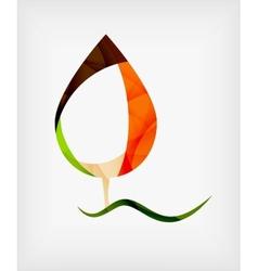 Flat Design Abstract Leaf Shape Concept vector image