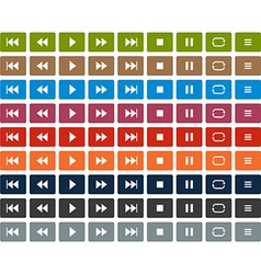 Flat player icons vector image