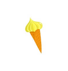 flat summer symbol ice cream vector image