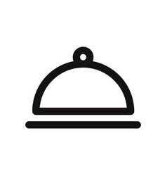 food cloche icon cover food symbol vector image