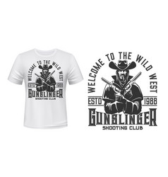 gangster bandit character t-shirt mockup vector image