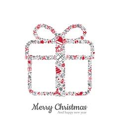 Gift box and christmas icon vector