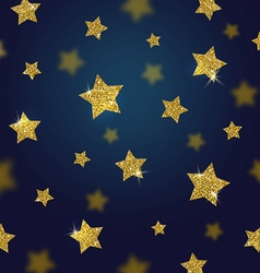 Glitter gold stars background vector