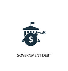Government debt icon simple element vector