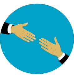 Hands - support and help concept vector image