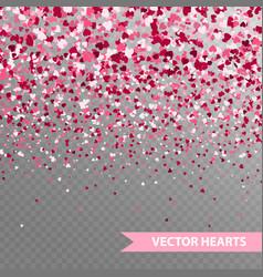 happy valentines hearts vector image