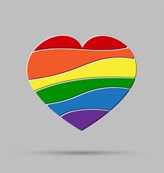 Heart peaces pride gay lgbt sign puzzle vector