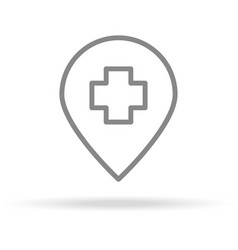 hospital location icon in trendy thin line style vector image