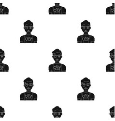 Jeweler icon in black style isolated on white vector