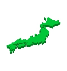 Map of Japan icon isometric 3d style vector