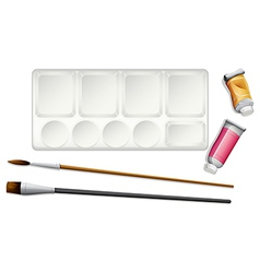Materials used in painting vector image