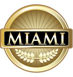 miami gold label vector image